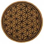 Round doormat - Flower of Life - diameter 60 cm