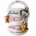 The seven Dwarfs set of 2 hair clips