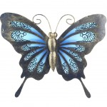 Butterfly wall decoration 22.5 x 18.5 cm - Blue model