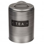 Metal cylindrical tea box