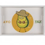 Rectangular Wooden Tray Avocado - small