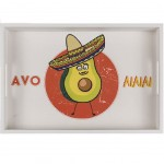 Rectangular Wooden Tray Avocado - large