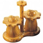 Salt and pepper shakers - Olive wood