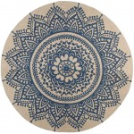 Carpet Mandala 90 cm - Blue