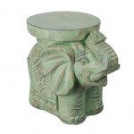 Pedestal Elephant Ethnic Resin
