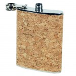 Flask in Metal and Cork