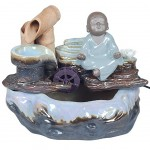 Buddhist monk indoor mini fountain 27 cm