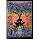 Batik wall hanging The meditator 75 X 115 cm