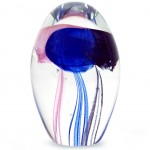 3 Jellyfish Glass Paperweight
