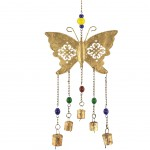Mobile 5 bells Metal Butterfly