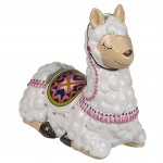 white Lama piggy bank