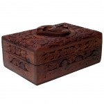 OM small box carved