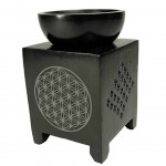 Oil burner soapstone Flower of life