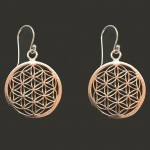 Flower of life earrings brass silver-colored
