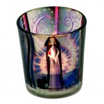Candle light holder Wicca fairy