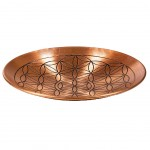 Copper plate with flower of life design