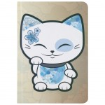 Mani the Lucky Cat Beige Notebook
