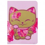 Mani the Lucky Cat Pink Notebook