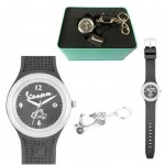 Gift Box Watch Vespa black Women and Keychain