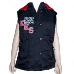 High school musical sleeveless padded jacket