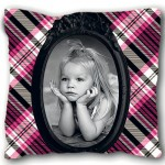 Monster doll small white cushion with PERSONALIZED PICTURE