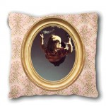 Small LOUIS PHILIPPE old wallpaper cushion