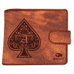 Leather wallet - As of Spades