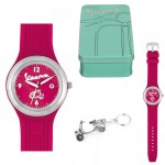 Gift Box Watch Vespa red Women and Keychain
