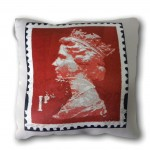 London Stamp Cushion