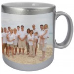 Silvery mug with PERSONALIZED PICTURE