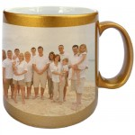Gilt mug with PERSONALIZED PICTURE