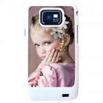 White shell Samsung S2 with PERSONALIZED PICTURE