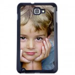 Black shell Galaxy Note with PERSONALIZED PICTURE
