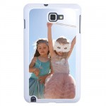 White shell Galaxy Note with PERSONALIZED PICTURE