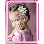 iPad 2 pink shell with PERSONALIZED PICTURE