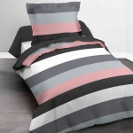 Bedclothes 140 x 200 cm - Pink striped